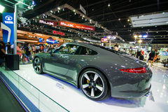 Porsche 911 Carrera S display on stage Royalty Free Stock Photography