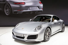 Porsche 911 Carrera S at the IAA 2015 Royalty Free Stock Photo
