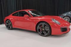Porsche 911 Carrera 4S på skärm royaltyfri foto