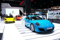 Porsche 911 Carrera S på skärm arkivbild