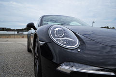 Porsche 911 Carrera S. Wide angle shot of a 2015 Porsche 911 Carrera S Royalty Free Stock Image