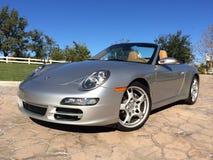Porsche Carrera silver Royalty Free Stock Photo