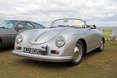 Porsche carrera speedster vintage classic. Photo of a vintage classic porsche carrera speedster convertible on show at tankerton slopes whitstable kent 21st Royalty Free Stock Photography