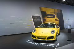 Porsche 911 Carrera T on display during LA Auto Show stock photography