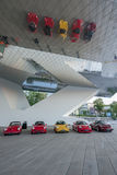 Porsche 911 cars. In front of Porsche museum in Stuttgart, Germany Stock Images