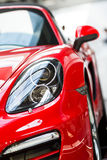 Porsche cars for sale. Porsche cars in showroom for sale Stock Photography