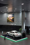 Porsche cars for sale in showroom Stock Photos