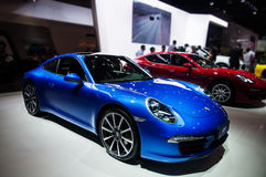 Porsche cars. Take on the 16th Chongqing International Motor Show, June 6th-12th, 2014. There are many international famous brand companies and corporations and Stock Photography