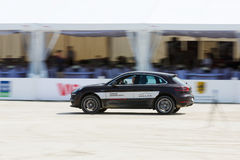 Porsche Cayenne on the arena Royalty Free Stock Image