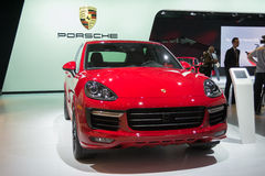 Porsche Cayenne 2015 on display Royalty Free Stock Images