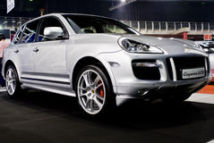 Porsche Cayenne GTS - Luxury SUV - MPH. One of three cars from this manufacturer (Porsche) displayed at the MPH motor show.  MPH Show, Northgate Dome, Gauteng