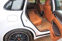Kiev, Ukraine; March 3; Porsche Cayenne. Rear car seat royalty free stock photos