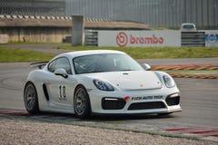 Porsche Cayman GT4 en Monza Fotografía de archivo
