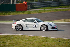 Porsche Cayman GT4 at Monza Royalty Free Stock Image