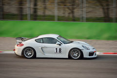 Porsche Cayman GT4 przy Monza Zdjęcia Stock