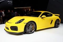 Porsche Cayman GT4 sportów samochód Obrazy Royalty Free
