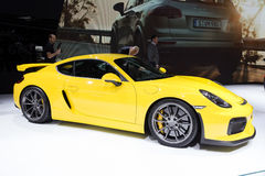 2016 Porsche Cayman GT4 sportów samochód Zdjęcia Stock
