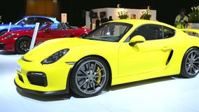 Porsche Cayman GT4 sports car stock video