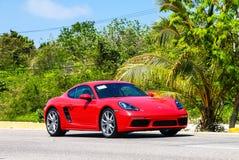 Porsche 718 Cayman. QUINTANA ROO, MEXICO - MAY 16, 2017: Motor car Porsche 718 Cayman in the city street royalty free stock images