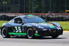 Porsche Cayman racing Royalty Free Stock Photos