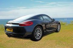 Porsche caymen wiecu przedstawienie Obraz Royalty Free