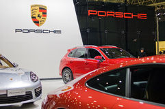 Porsche in Chinese show Stock Photo