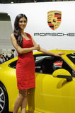 Porsche in Chinese show Royalty Free Stock Photos