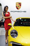 Porsche in Chinese show Royalty Free Stock Photo