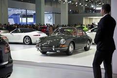 Porsche classico verde 911 Immagini Stock