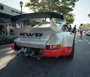 Porsche classique 911 à un salon automobile Image stock