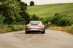 Porsche color silver Stock Photography