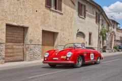 Porsche 356 1500 conductores veloces 1954 en Mille Miglia 2014 Foto de archivo