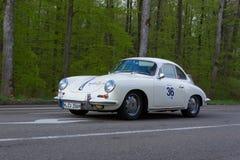 1965 Porsche 356 Coupé bij ADAC Wurttemberg Historische Rallye 2013 Stock Foto's