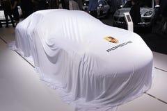 Porsche-debuut Stock Foto