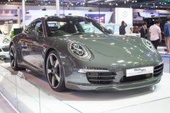 Porsche an der 30. internationalen Bewegungsausstellung Thailands am 3. Dezember 2013 in Bangkok, Thailand stockbild