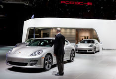 Porsche Display 2012 NAIAS Royalty Free Stock Images
