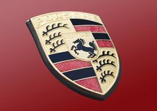 Porsche-embleem Stock Fotografie