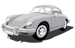porsche för bil 356b retro sport vektor illustrationer