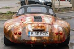 Porsche för gammal stil bil Arkivbilder
