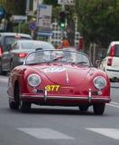 Porsche 356 1500 fartdåre 1955 Fotografering för Bildbyråer