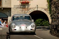 Porsche 356 Ferdinand al Gran Premio storico 2017 di Bergamo Fotografia Stock