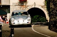 Porsche 356 Ferdinand al Gran Premio storico 2017 di Bergamo Fotografia Stock Libera da Diritti