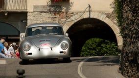 Porsche 356 Ferdinand przy Bergamo Historyczny Uroczysty Prix 2017 Fotografia Royalty Free