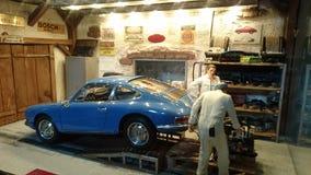Porsche 901 garage scale diorama Stock Photos