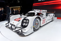 Porsche 919 at the 2014 Geneva Motorshow. The new Porsche 919 Racing Car at the 2014 Geneva Motorshow Royalty Free Stock Photography