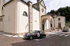 Porsche gris 356 Imagenes de archivo