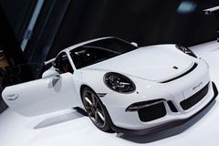 Porsche 911 991 GT3 - Geneva Motor Show 2013 Royalty Free Stock Photo