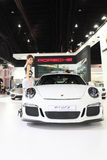 Porsche 911 GT3  car with Unidentified model Stock Images