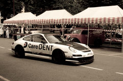 Porsche 911 GT3 Cup at Bergamo Historic Grand Prix 2015 Royalty Free Stock Photography