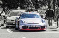 Porsche 911 GT3 3 8 - Gumball 3000 - Ausgabe 2016 - Dublin nach Bukarest Stockfotografie